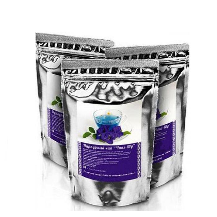 Пурпурный чай для похудения чанг шу